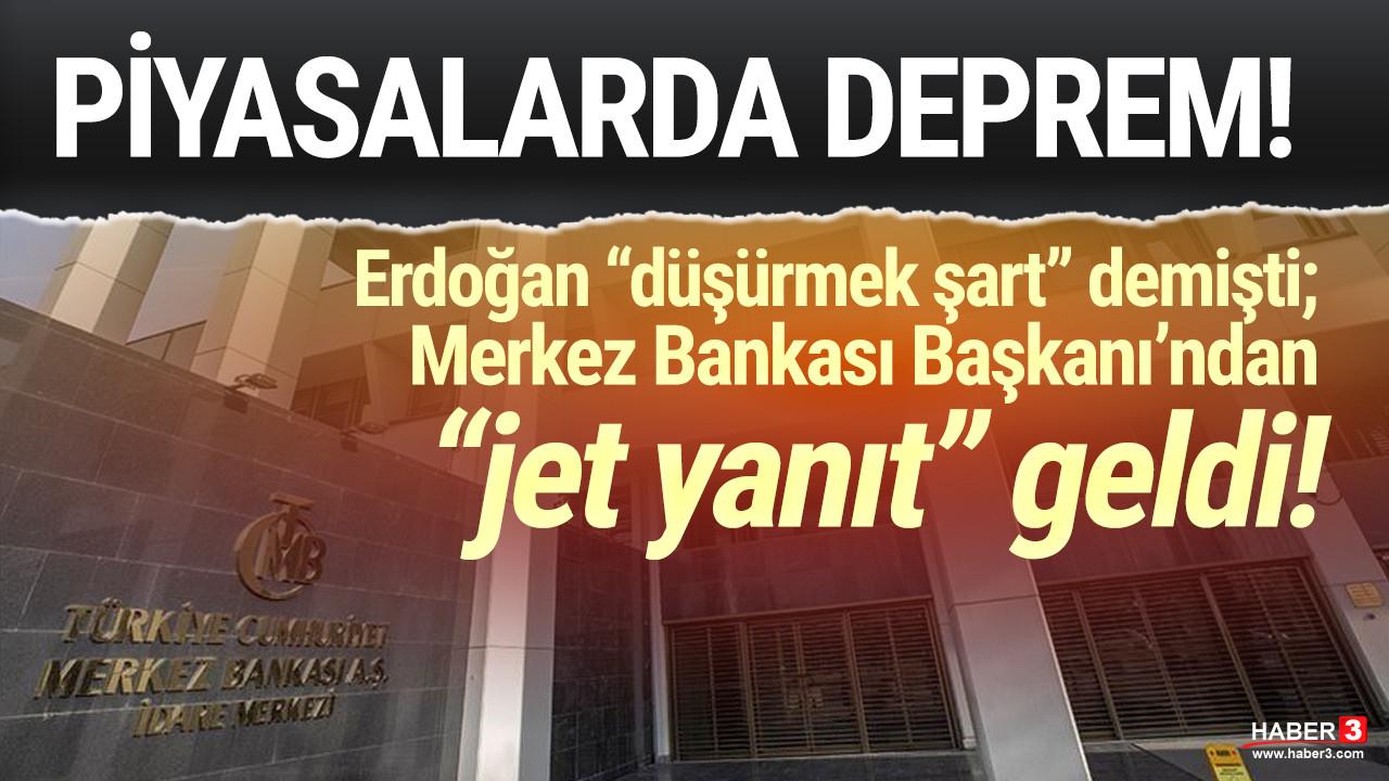 Erdoğan ''düşürmek şart'' demişti; Merkez Bankası Başkanı'ndan flaş açıklama