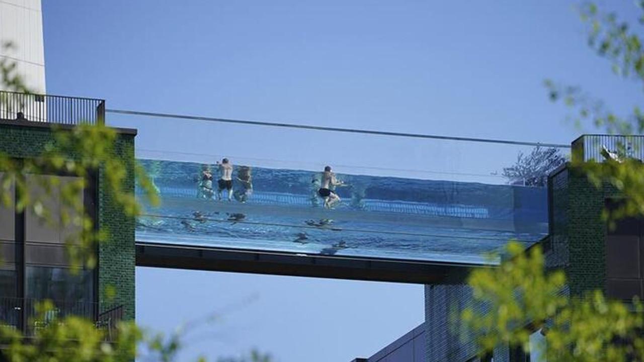 Dünya'da ilk: Bu havuza girmek cesaret ister...