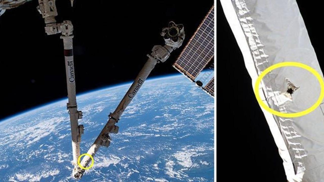 Uzay istasyonunda kırmızı alarm: 35 cm çapında delik açıldı
