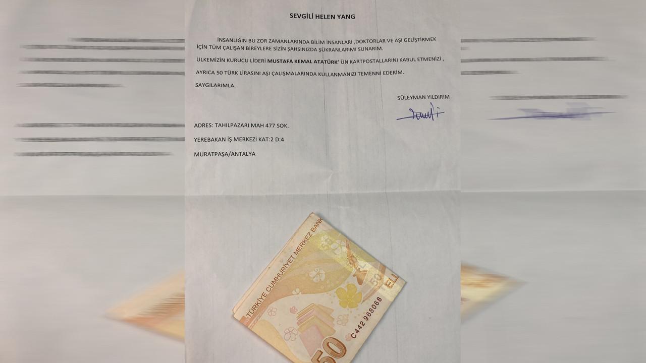 Türkiye'de aşı olan vatandaş Sinovac'a 50 TL gönderdi