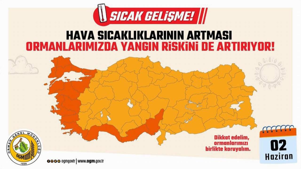 Türkiye'nin cennetleri için risk haritası açıklandı