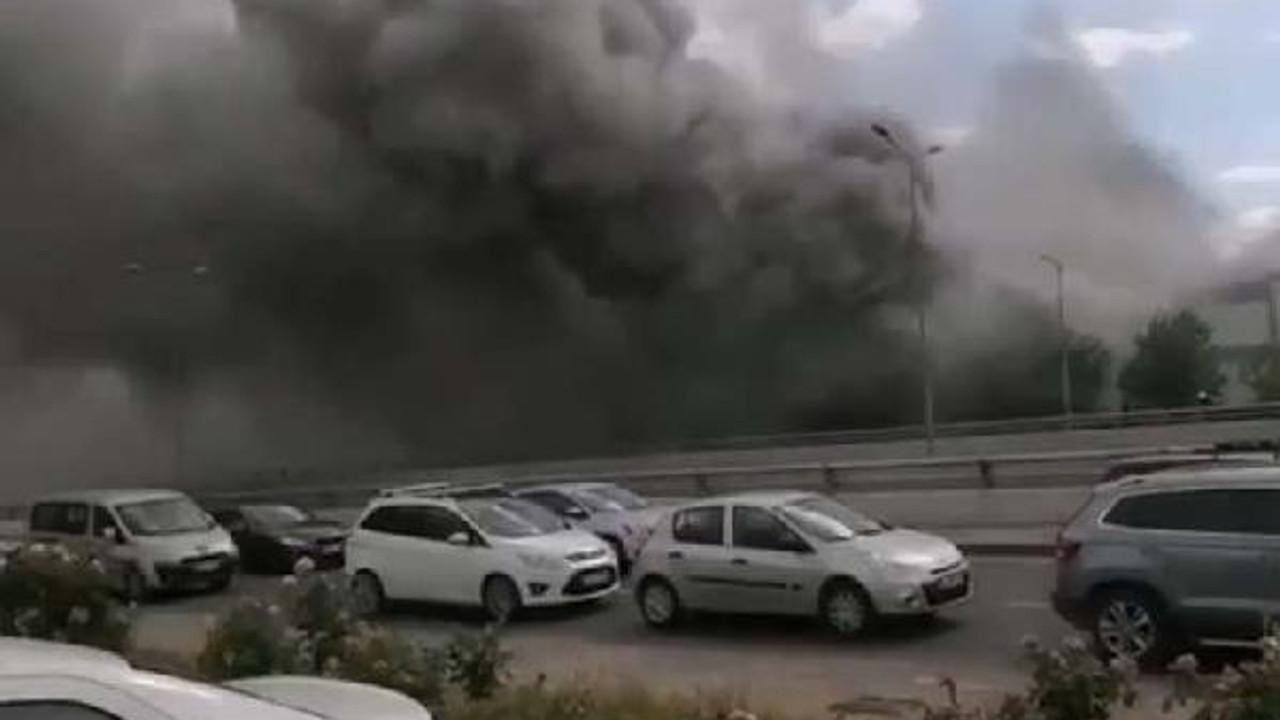 Ankara'da kimyasal madde deposu alev alev yandı