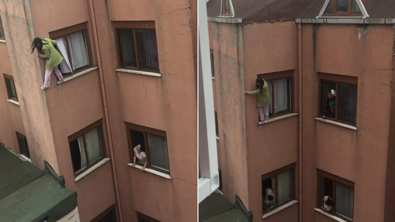 İstanbul'da feci olay! Genç kız 4. kattan aşağı atladı