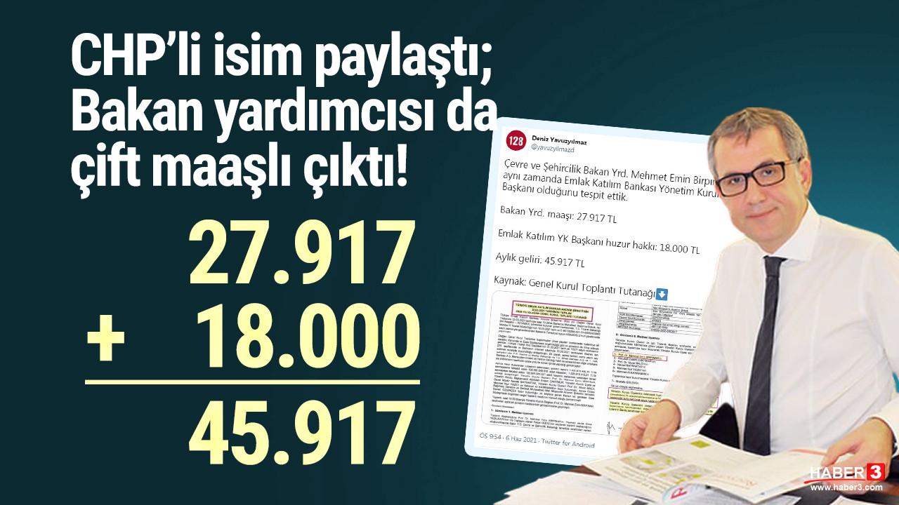 CHP'li vekil paylaştı, Bakan yardımcısı da çift maaşlı çıktı