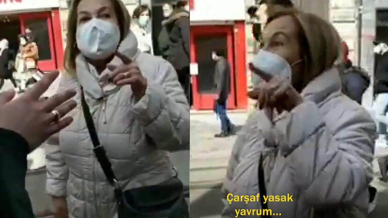 Taksim'de ''kara çarşaf'' tartışması: 5 yıl hapsi istendi