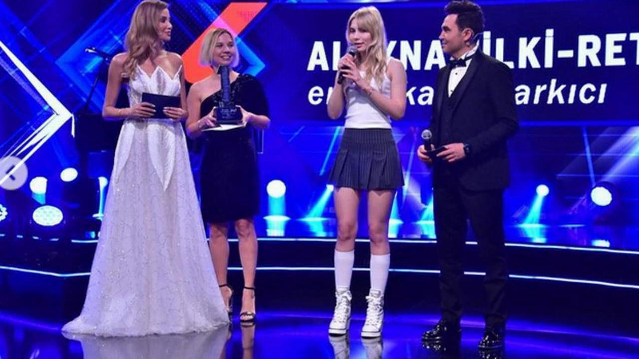 Aleyna Tilki, ödül törenine damgasını vurdu