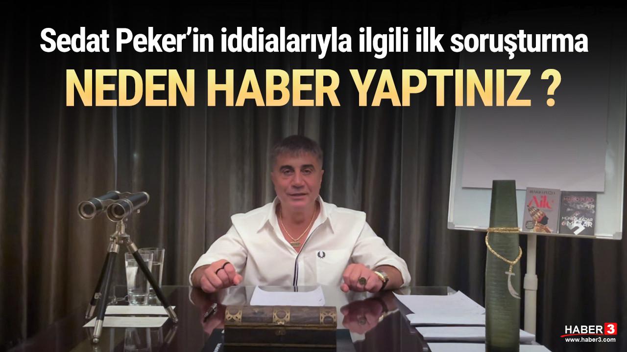 Sedat Peker'in iddialarıyla ilgili ilk soruşturma