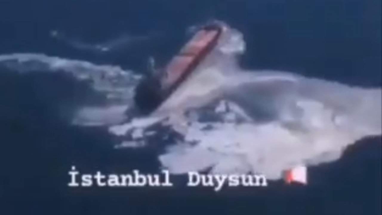 Marmara Denizi'nde skandal görüntü: Müsilajı gemiler mi döktü?