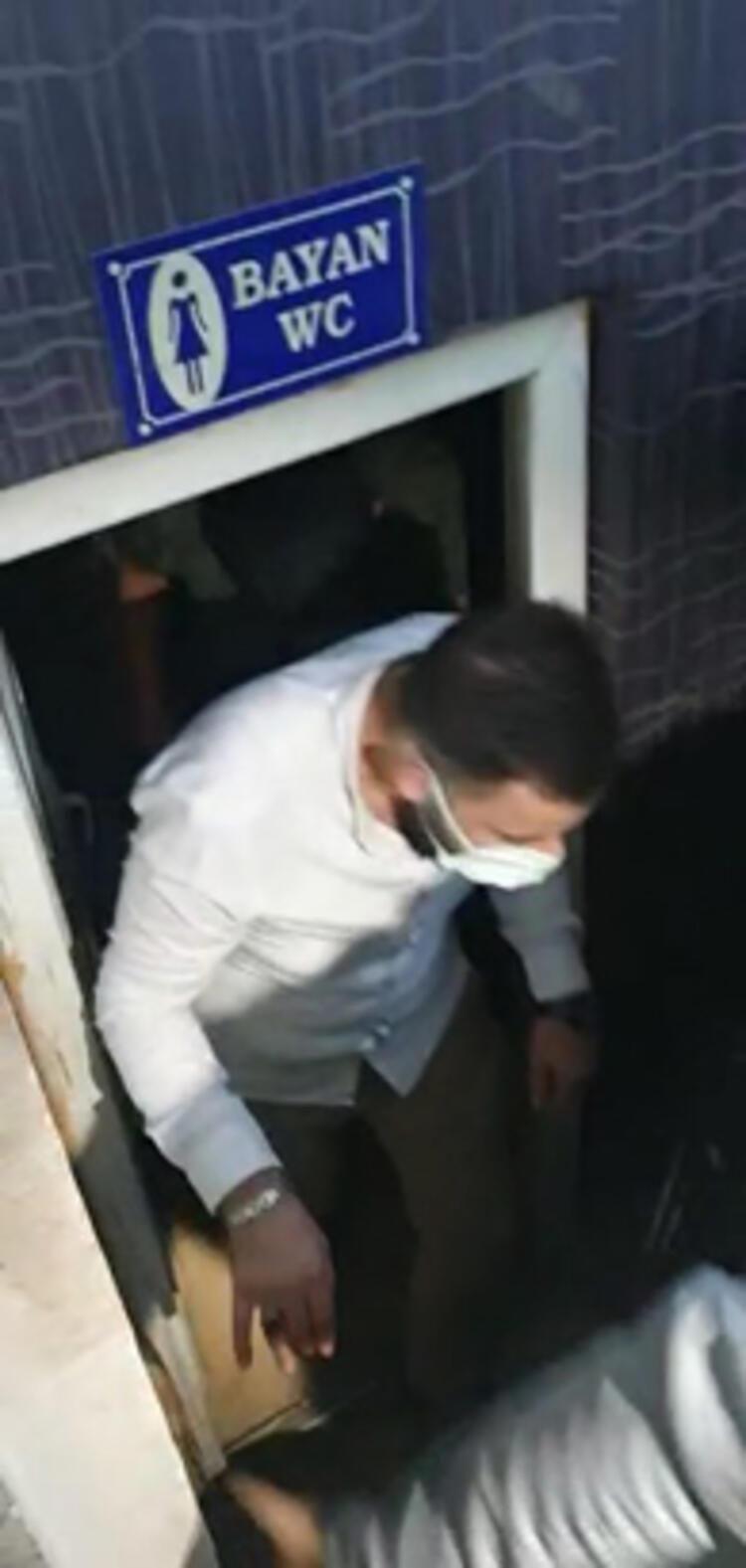 Şok baskın: 3 erkek kadınlar tuvaletinde yakalandı - Resim: 4