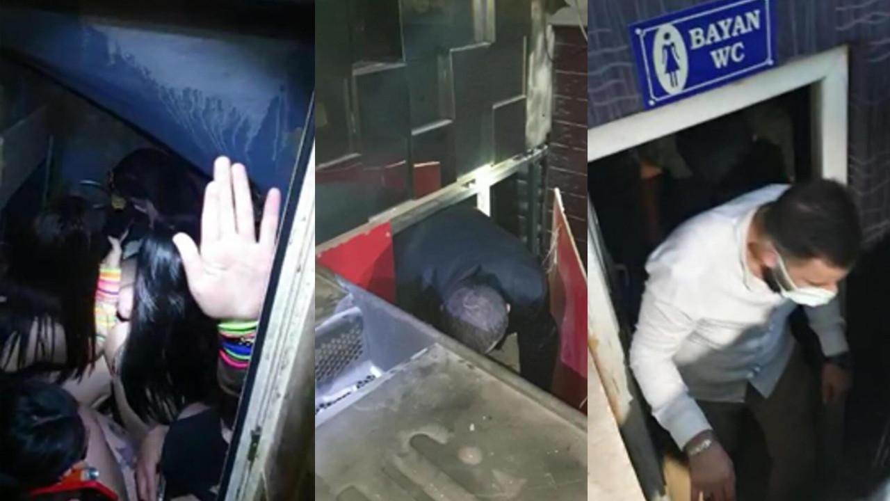 Şok baskın: 3 erkek kadınlar tuvaletinde yakalandı