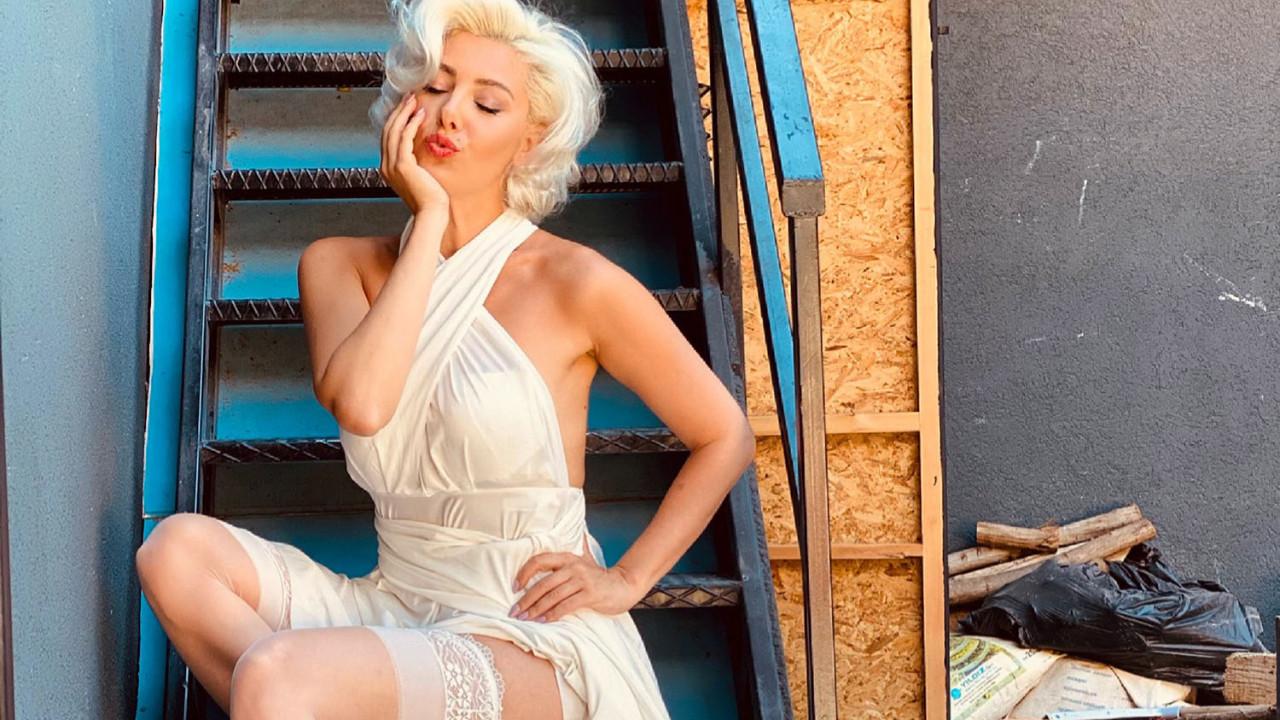 Burcu Binici Marilyn Monroe oldu