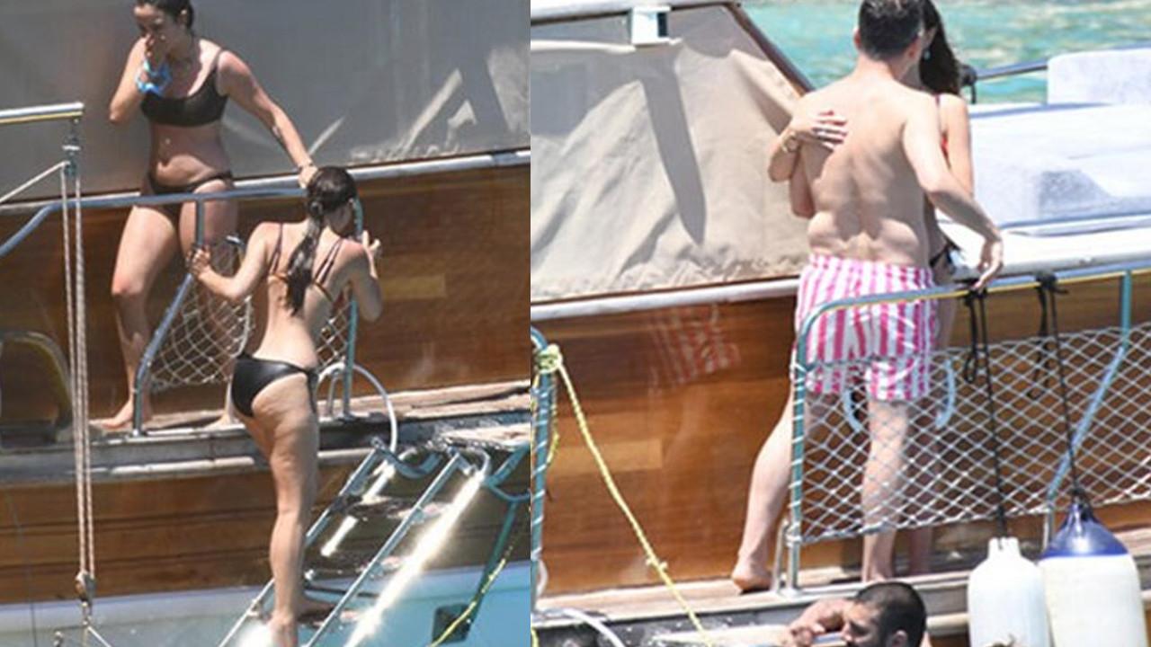 Ünlü çift teknede aşka geldi