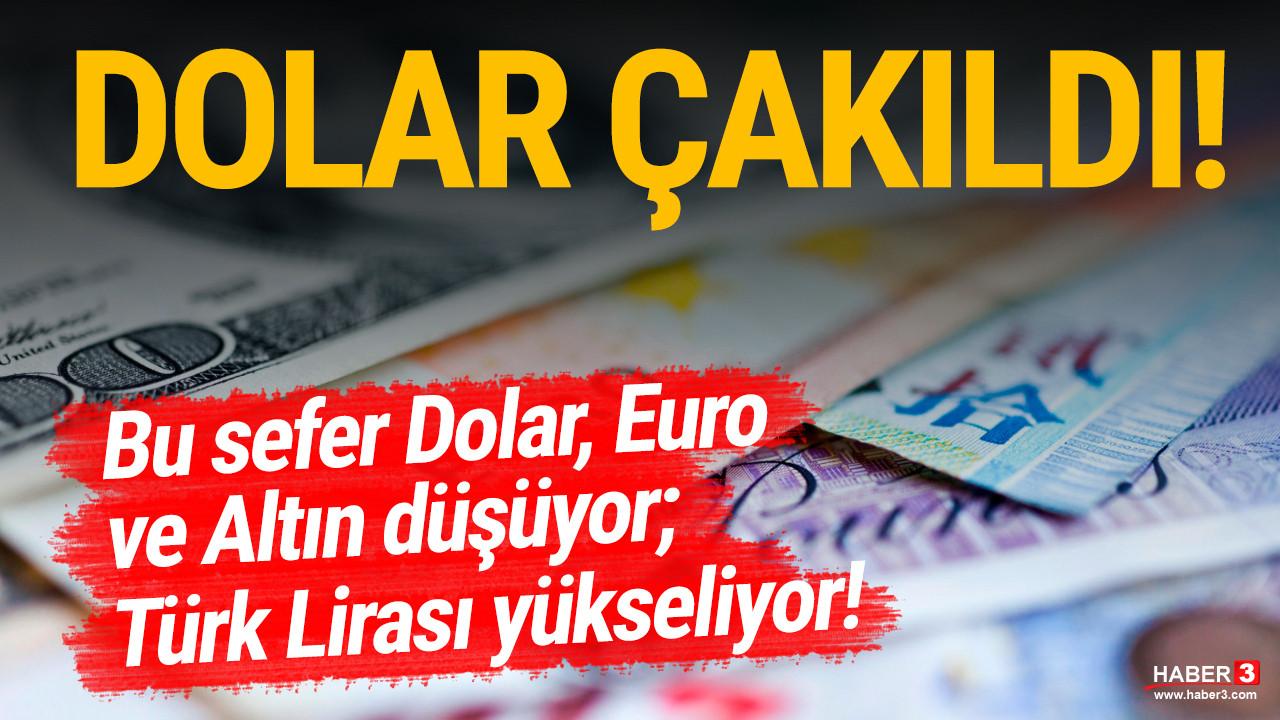 Türk Lirası'ndan büyük geri dönüş! Dolar, Euro ve altın bir anda çöktü