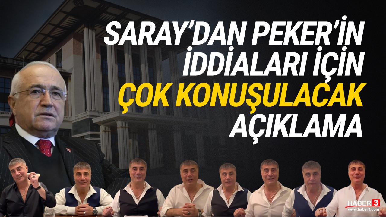 Cumhurbaşkanlığı'ndan Sedat Peker'in iddialarına olay olacak yanıt