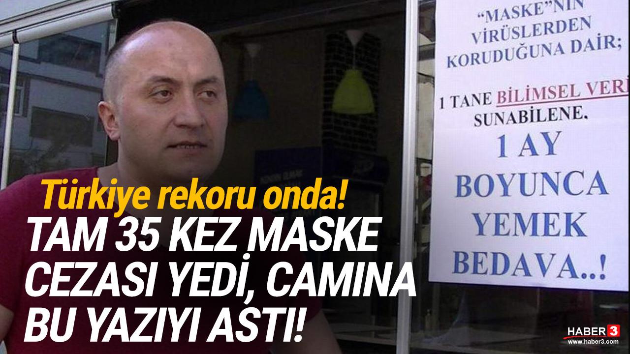 Türkiye rekoru onda: Tam 35 kez maske cezası yedi