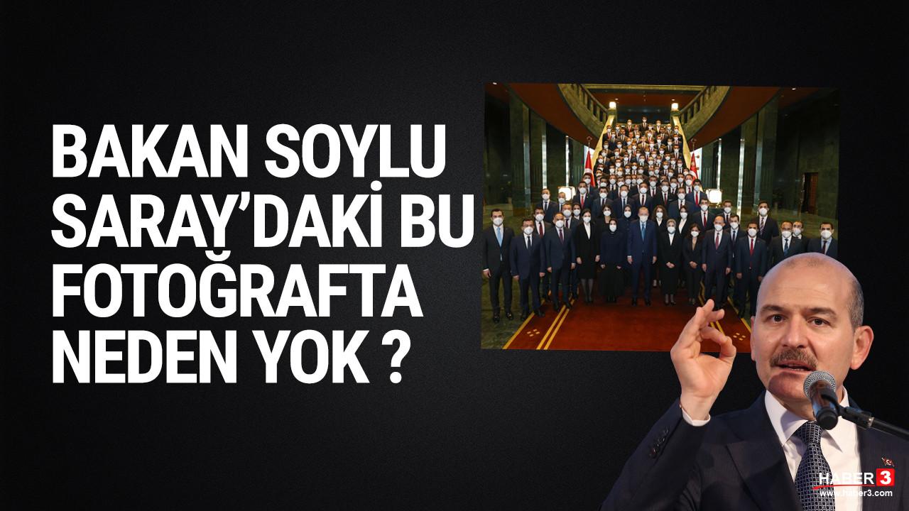 İçişleri Bakanı Soylu Saray'daki fotoğrafa neden girmedi ?