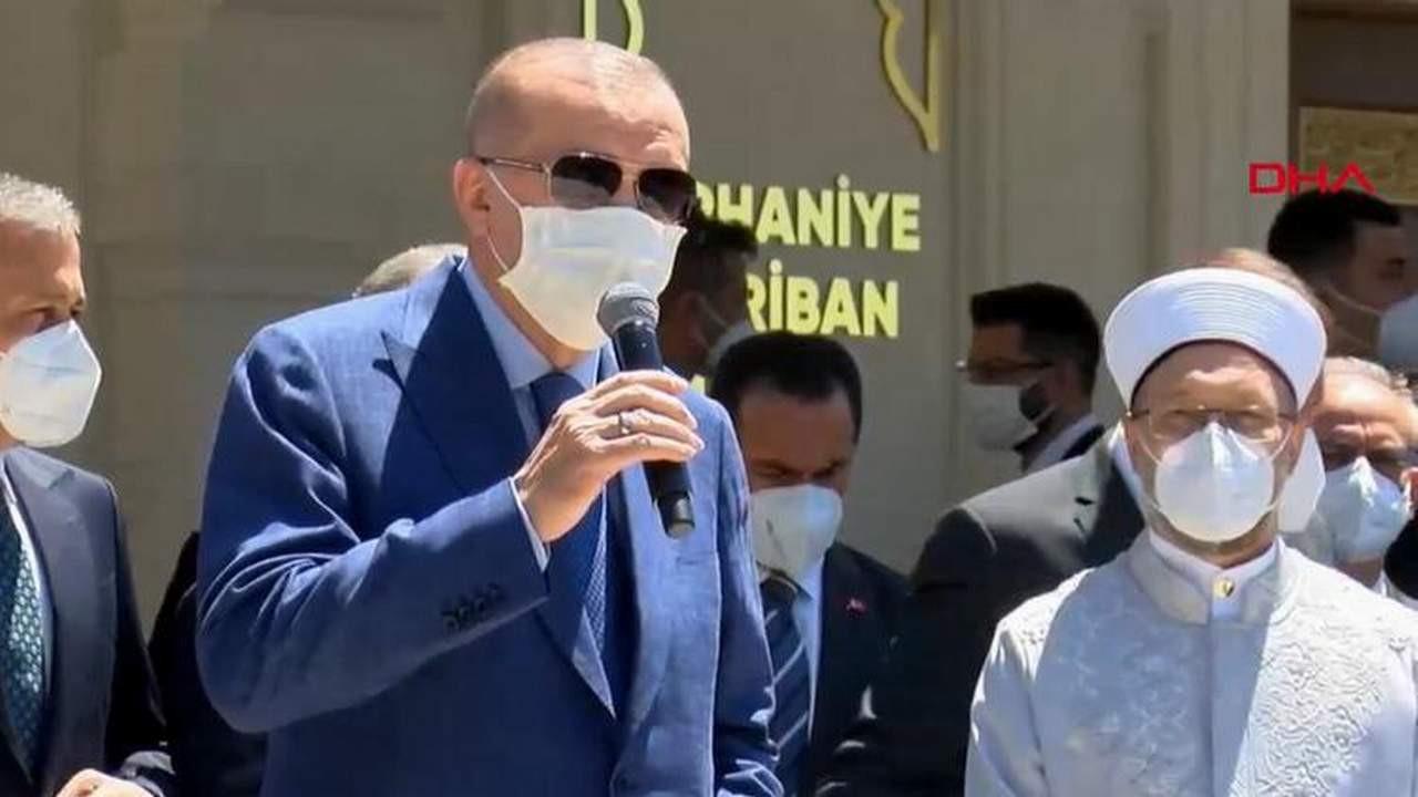 Erdoğan'dan ''haklarımız verilmiyor'' diyen vatandaşlara: ''Oturma eylemi yapın!''