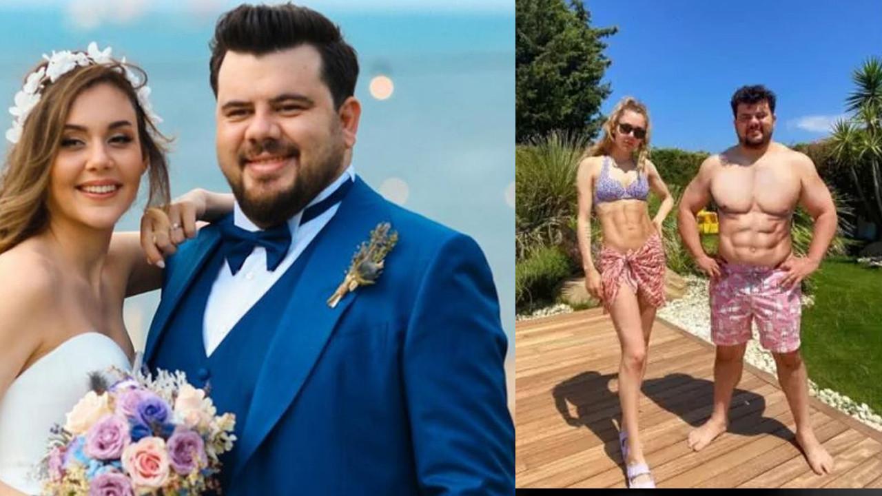 Eser Yenenler eşinin paylaştığı photoshoplu poza sitem etti