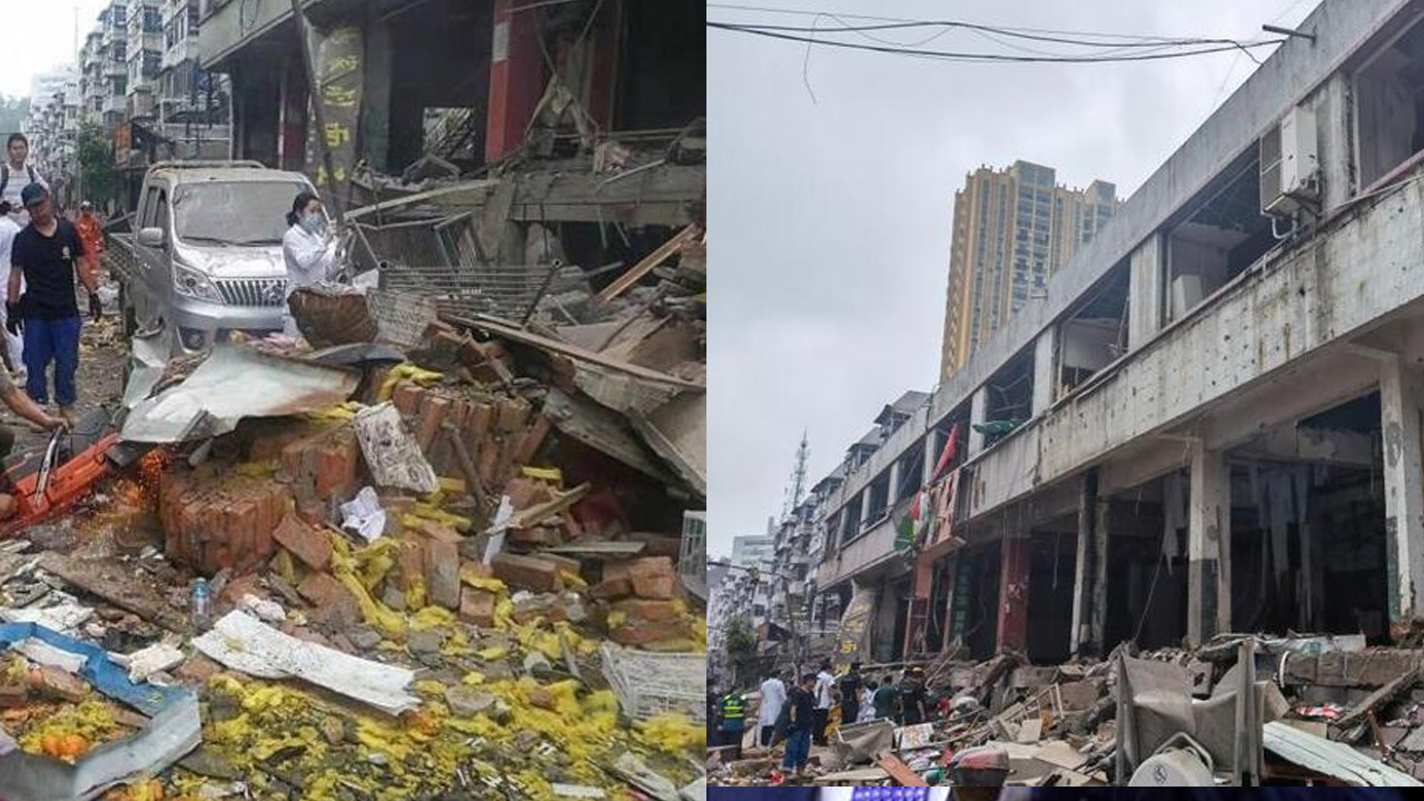 Çin'de korkunç patlama: Ortalık savaş alanına döndü! Onlarca ölü ve yaralı var