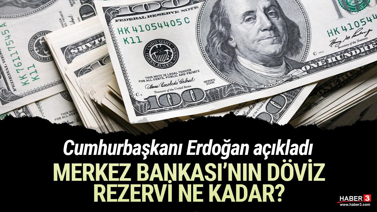 Cumhurbaşkanı Erdoğan, Merkez Bankası'nın döviz rezervini açıkladı