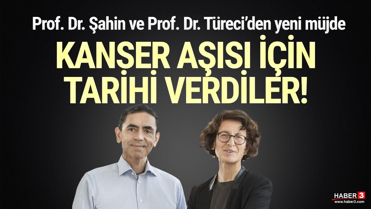 Prof. Dr. Uğur Şahin ve Prof. Dr. Özlem Türeci'nin kanser aşısı için tarih verdi