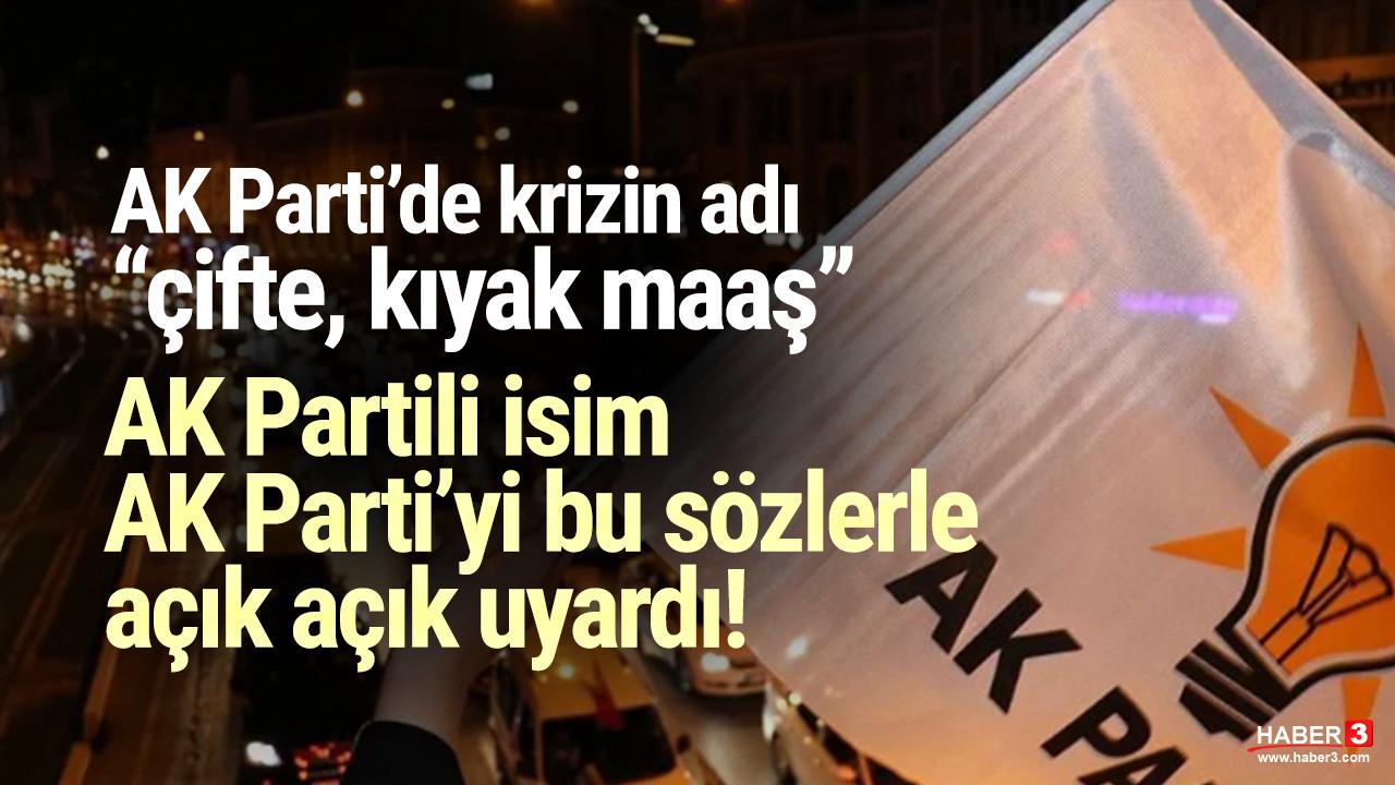 AK Partili Metiner'den AK Parti'ye ''çifte maaş'' uyarısı