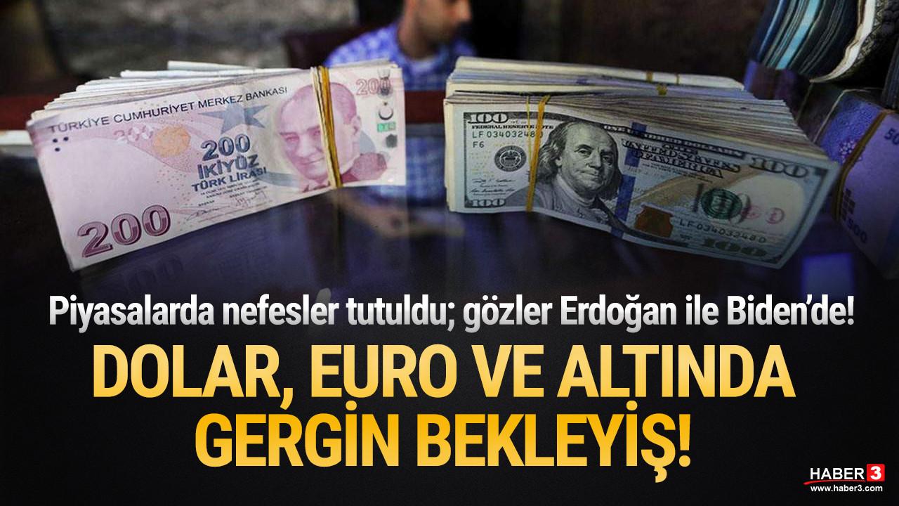 Dolar, Euro ve altın diken üstünde Erdoğan ile Biden'i bekliyor