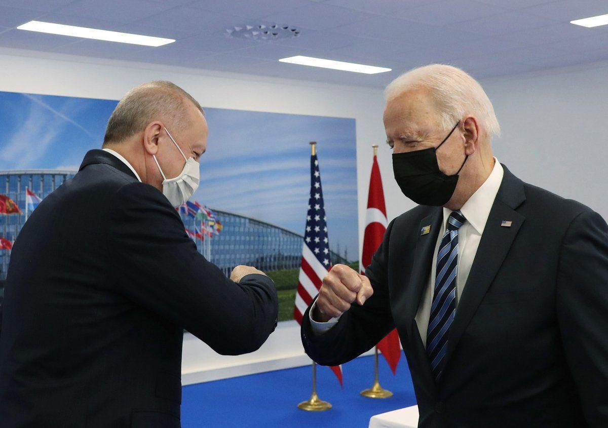 Batı medyası, Erdoğan ve Biden'ın tokalaştığı anları böyle çarpıttı - Resim: 1