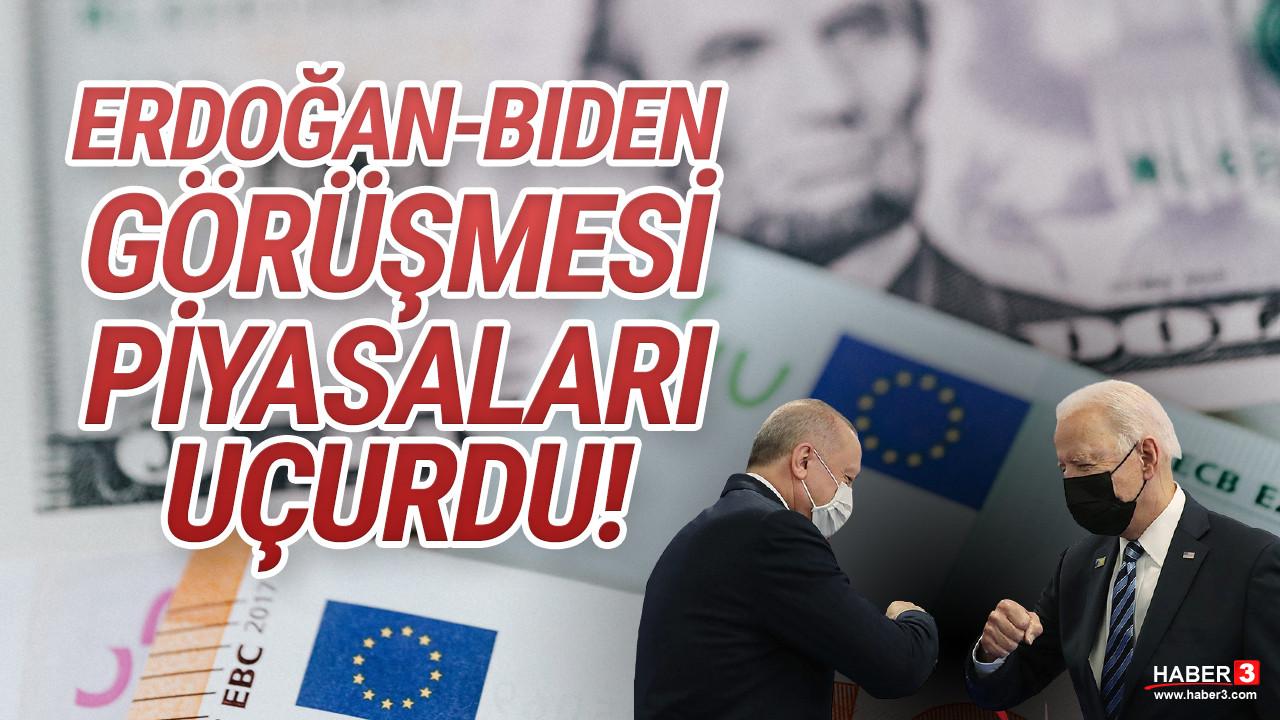 Erdoğan - Joe Biden görüşmesi sonrası dolar sert yükseldi