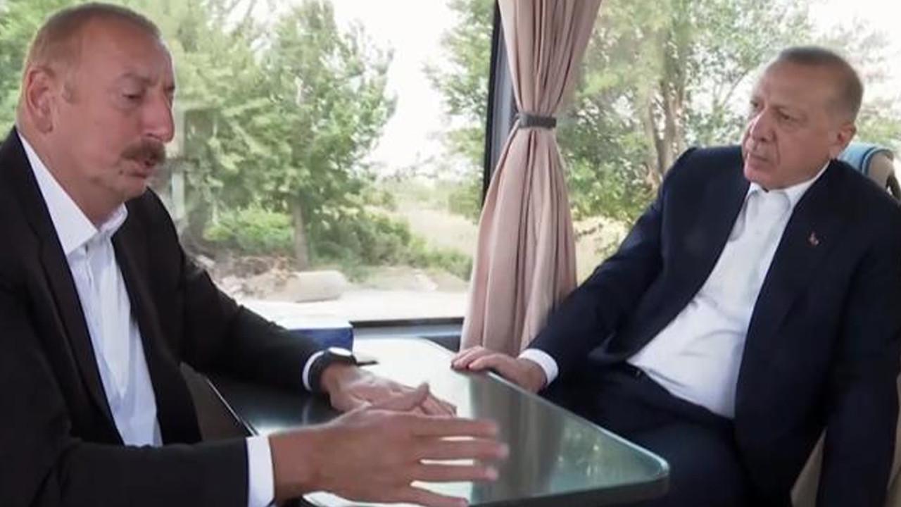 Erdoğan ve Aliyev arasında dikkat çeken diyalog: ''Aaa burada onlar var mı?''
