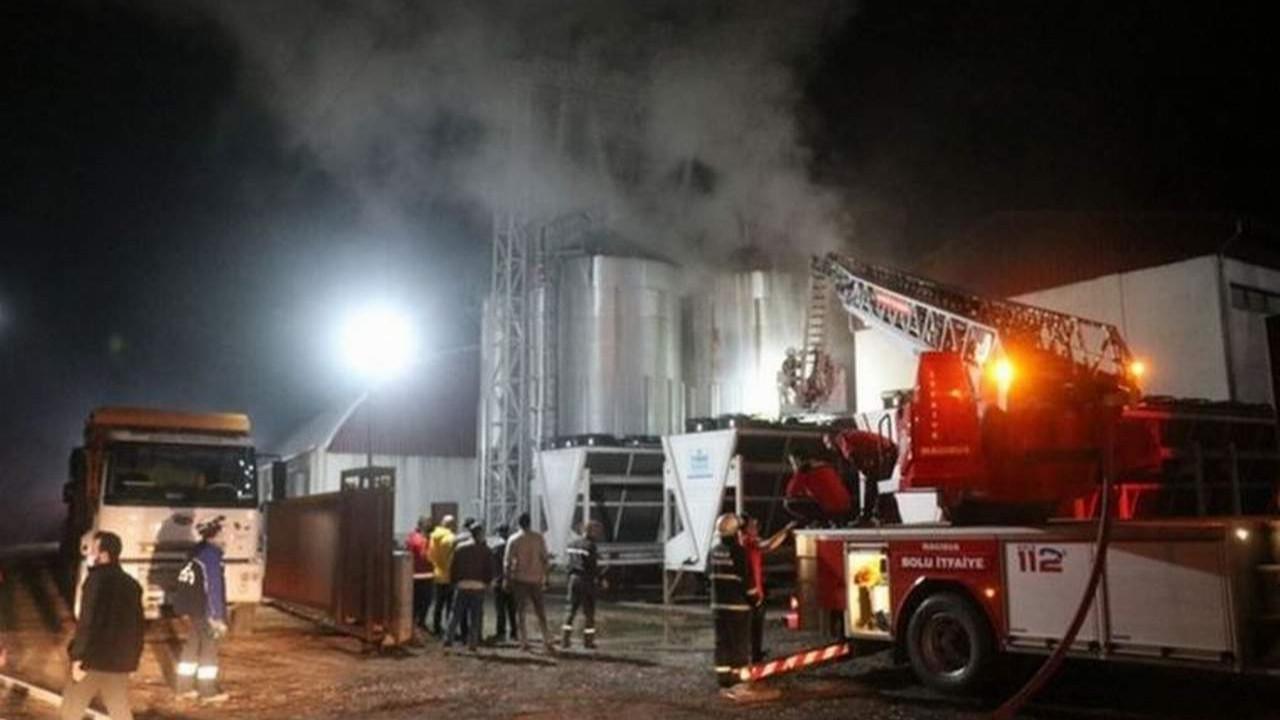 Bolu'da bioenerji fabrikasında yangın