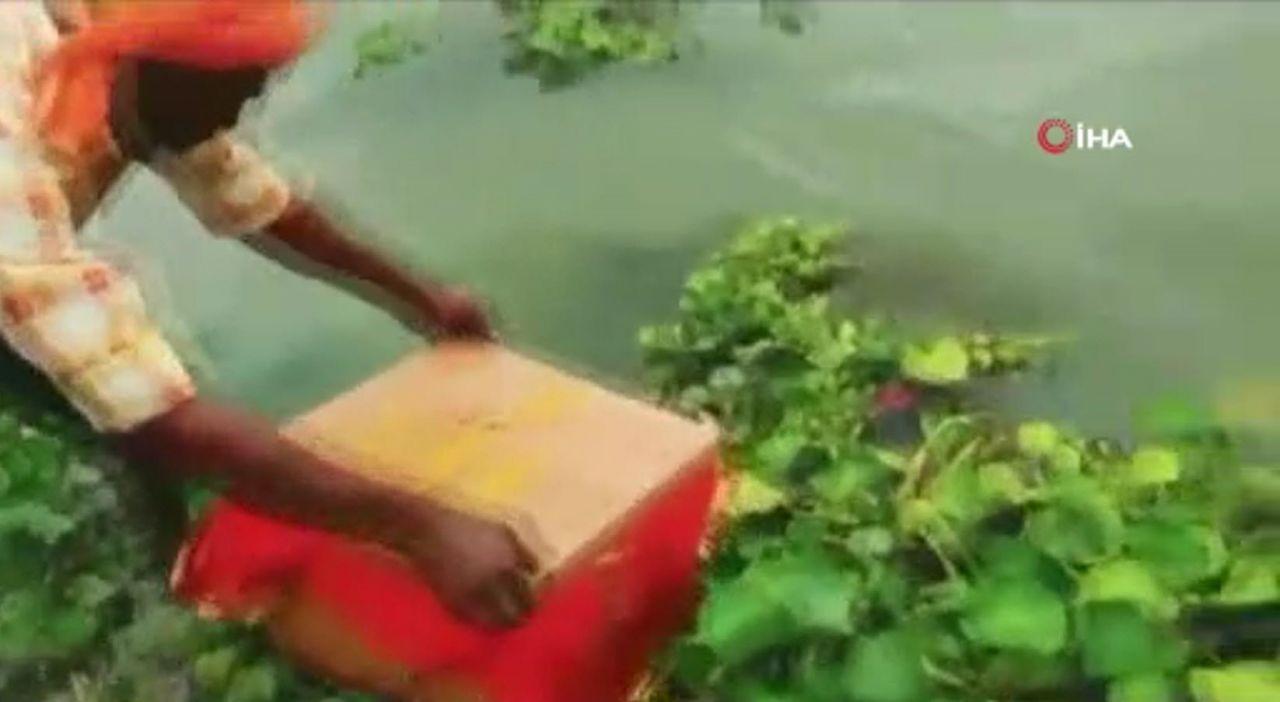 Nehirde yüzen sandığı açınca gözlerine inanamadılar - Resim: 2