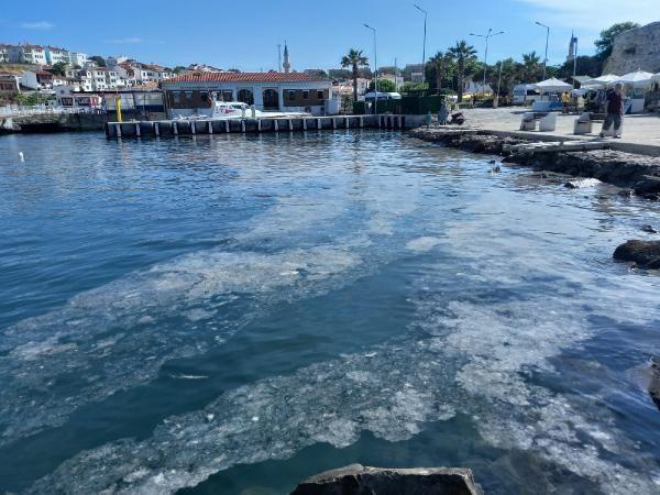 Müsilajda korkulan oldu! Ege'nin cennet adası Bozcaada'da da görüldü - Resim: 4