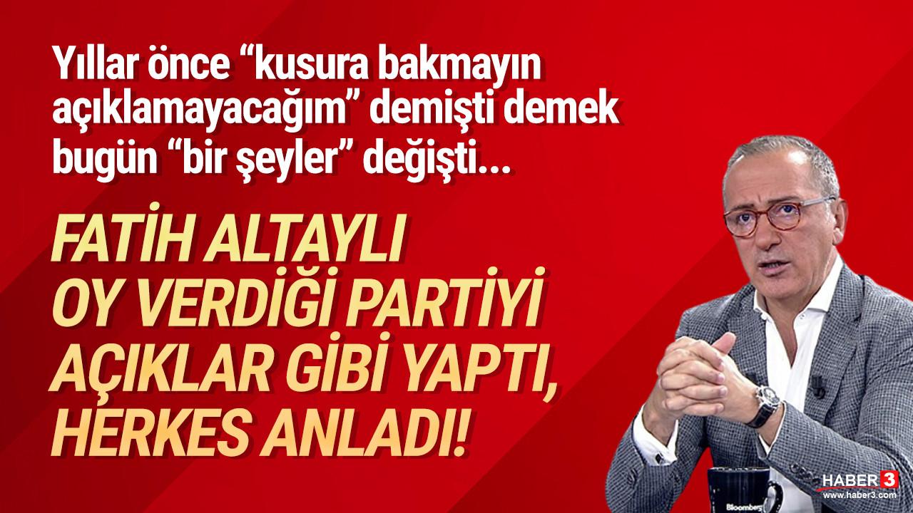Fatih Altaylı hangi partiye oy verdiğini açıkladı