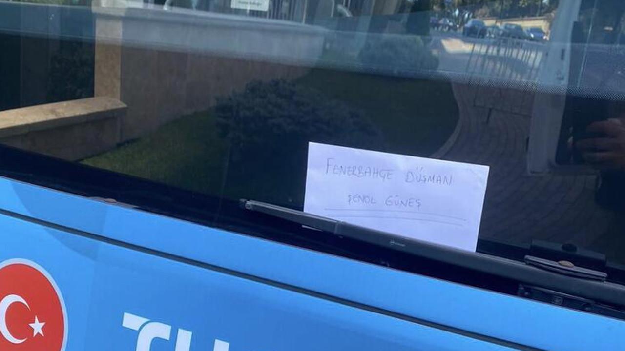 Şenol Güneş'e şok tepki! A Milli Takım otobüsüne bu yazıyı astılar
