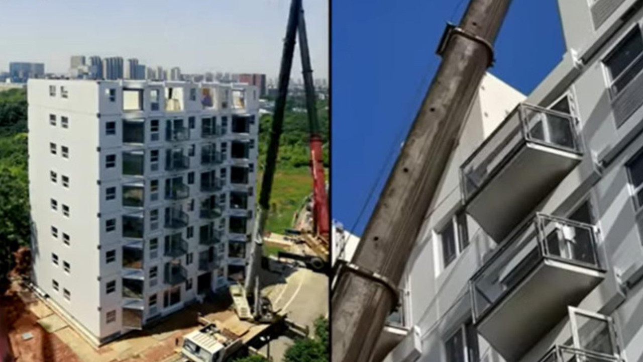 28 saatte 10 katlı bina diktiler