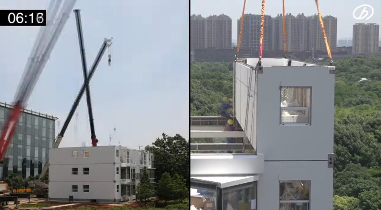 28 saatte 10 katlı bina diktiler - Resim: 2