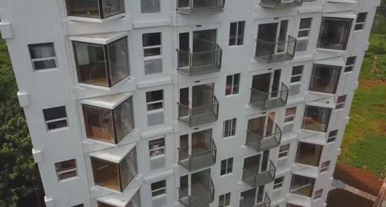 28 saatte 10 katlı bina diktiler - Resim: 4