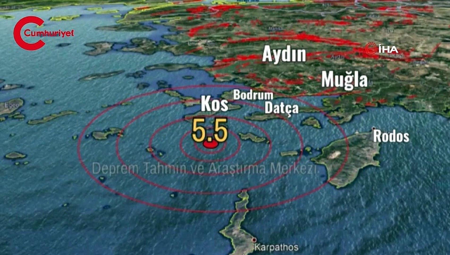 Korkutan depremin sesi ortaya çıktı