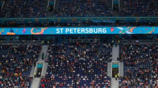 EURO 2020'de Rus taraftar açtığı pankartla dikkat çekti - Resim: 2