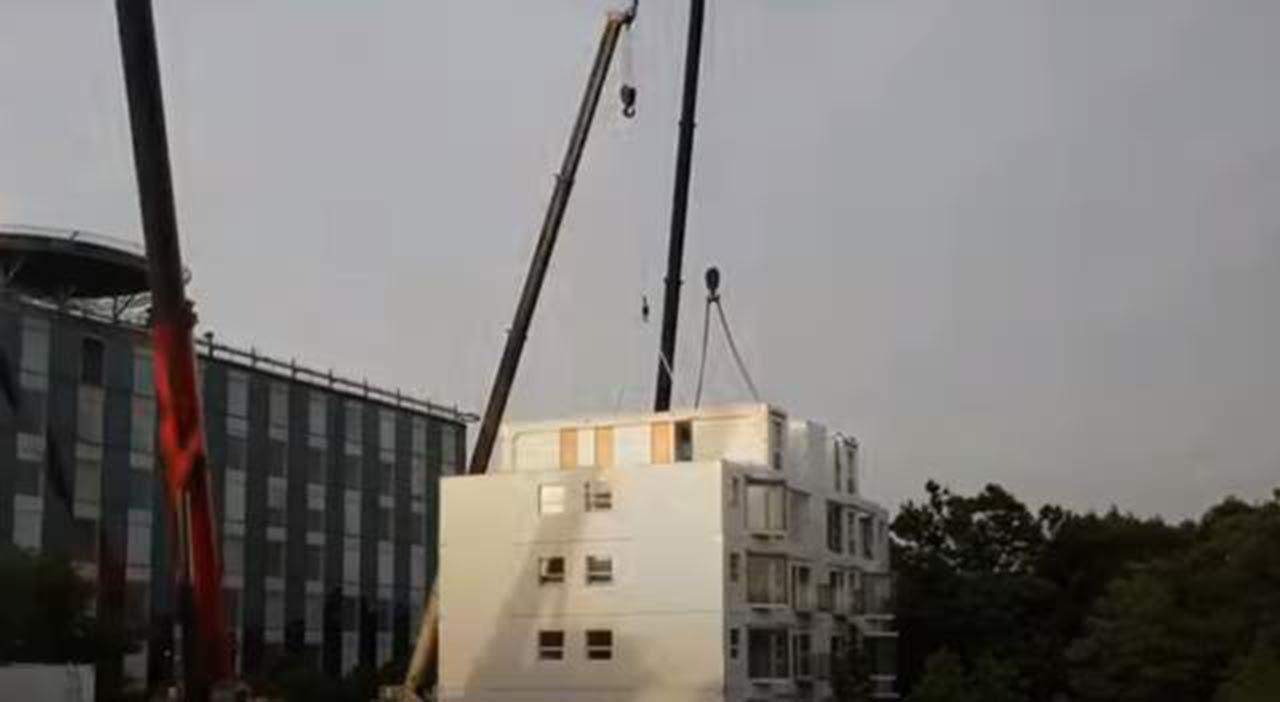 28 saatte 10 katlı bina diktiler - Resim: 3