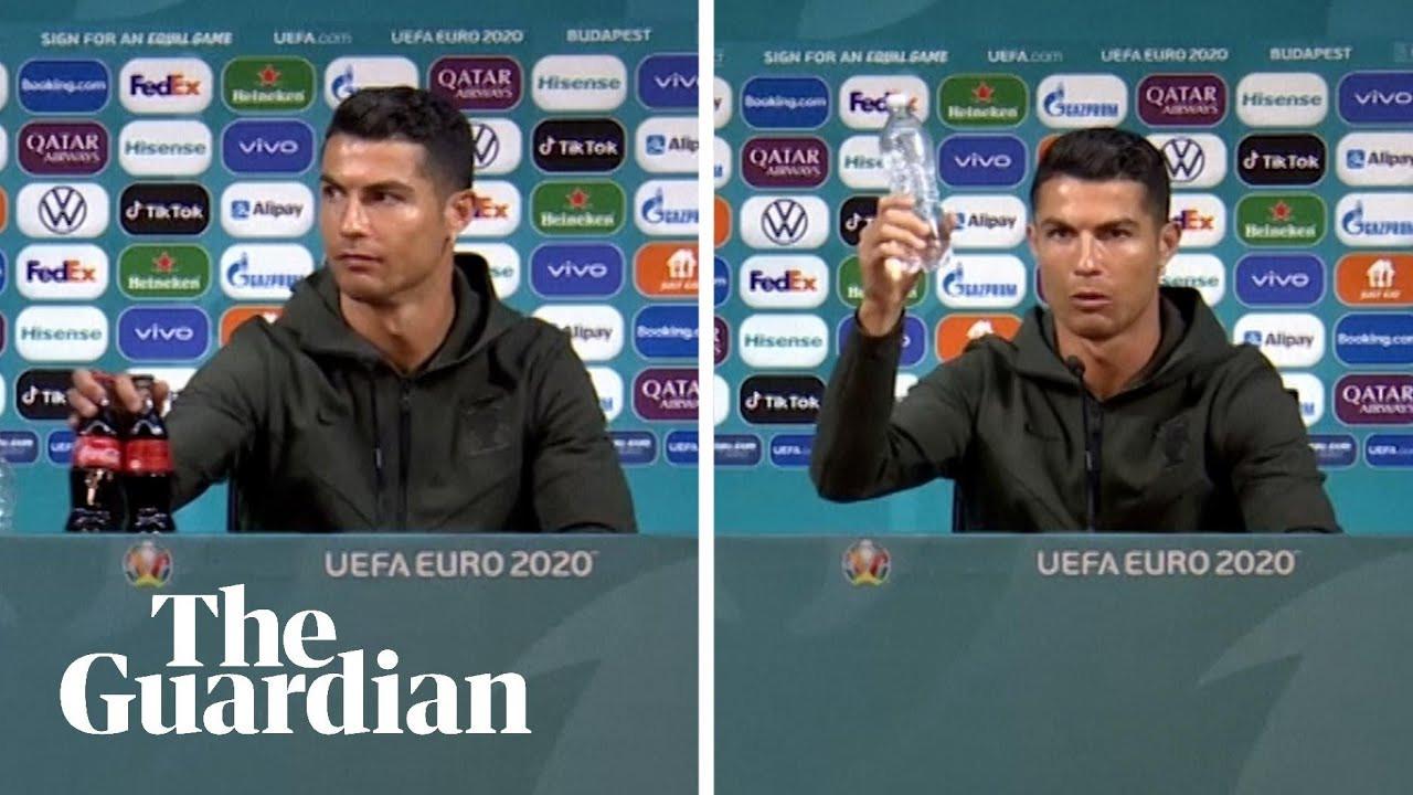 Su şişelerine Ronaldo'nun ismini verdiler