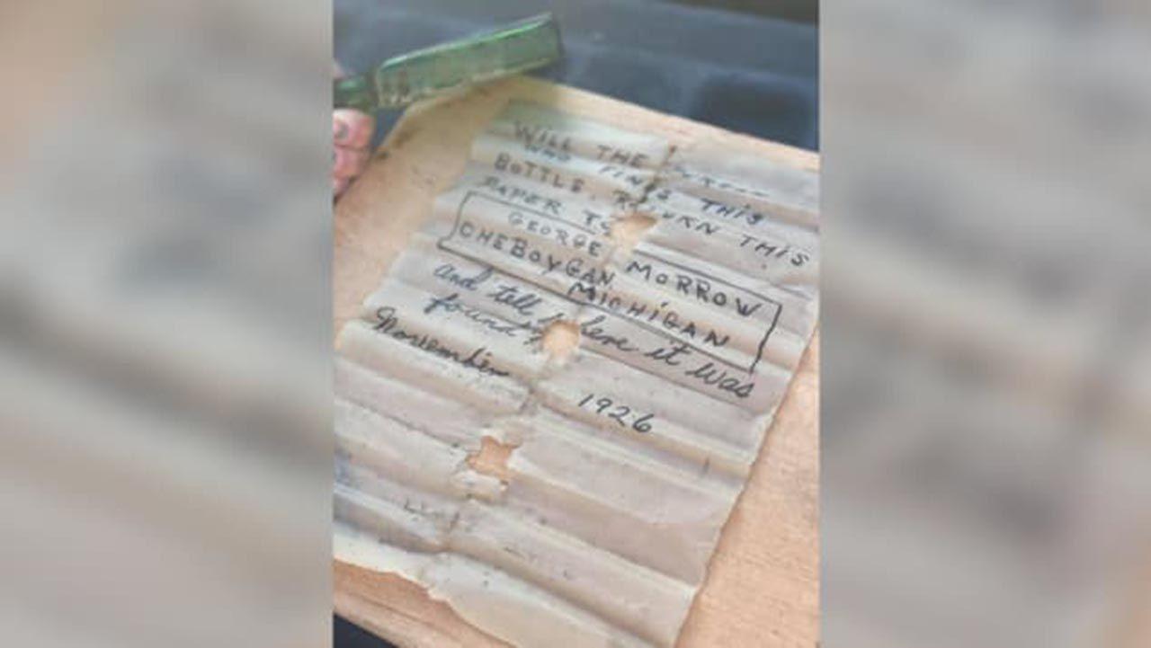 Denizin dibinde bulduğu şişeden 95 yıllık not çıktı - Resim: 3
