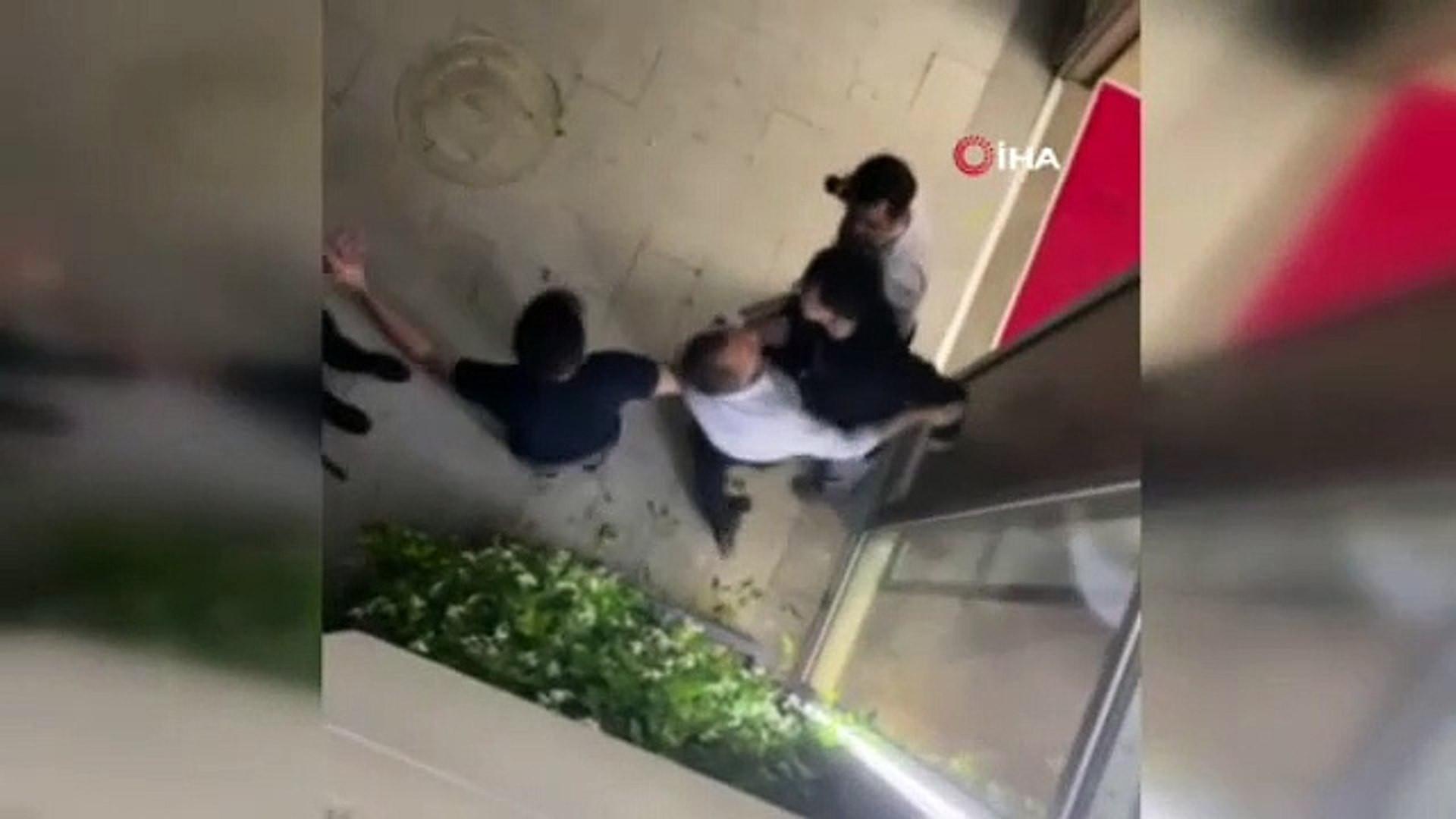 İstanbul'da doktora özel güvenlik dayağı kamerada