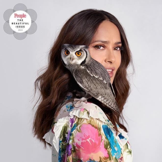 Salma Hayek'in baykuşuyla olan derin bağı dikkat çekti - Resim: 4