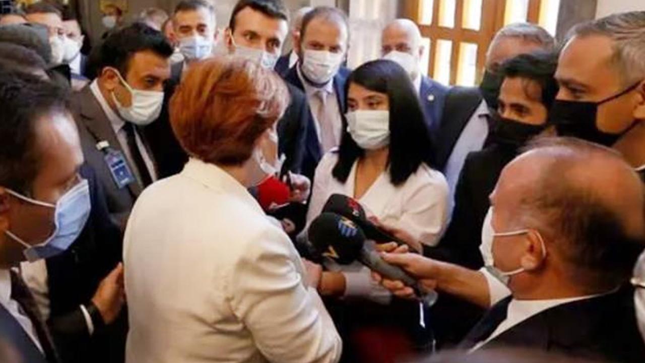 Akşener, korumalarının müdahale ettiği gazetecilerden özür diledi