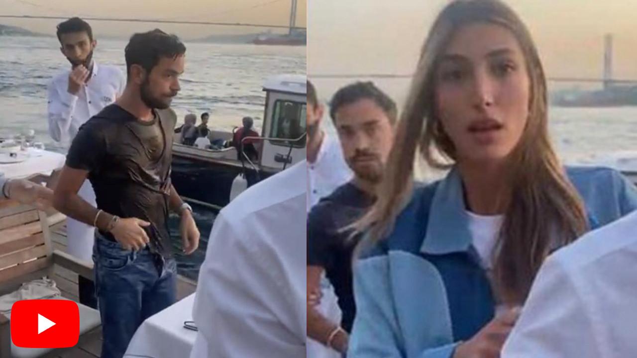 Kıskançlık krizine giren Şevval Şahin'in eski sevgilisi yeni sevgilisini denize attı