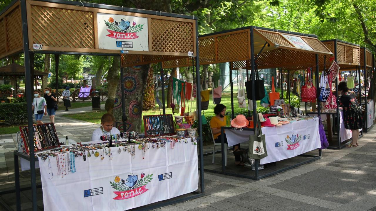 Potlaç Kadın Emeği Pazarı yeniden Kadıköy Moda'da
