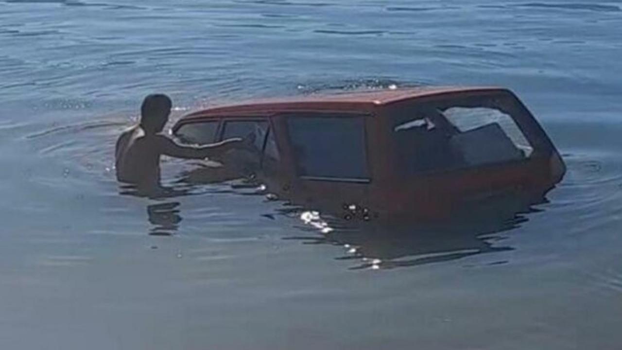 Balık tutmaya gitti, barajdan balık yerine otomobilini çıkardı