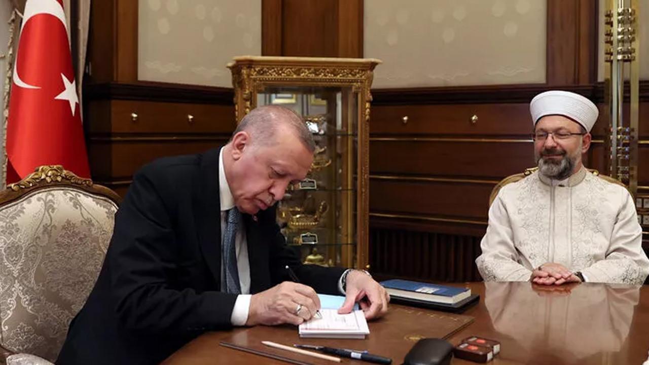 Cumhurbaşkanı Erdoğan'dan Türkiye Diyanet Vakfına kurban bağışı